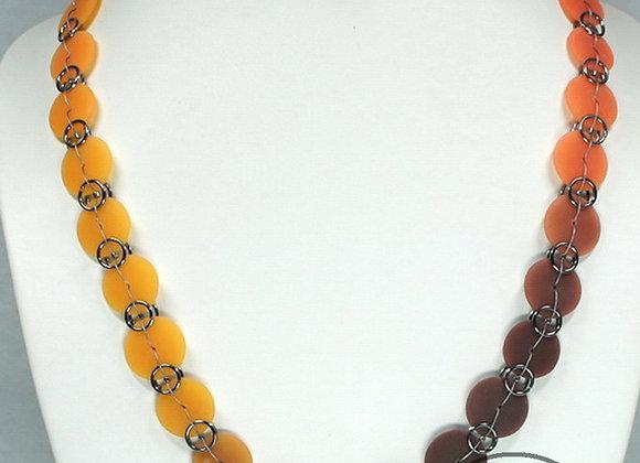 Color Gradient Beach Glass Necklace: JN-BhGl-001