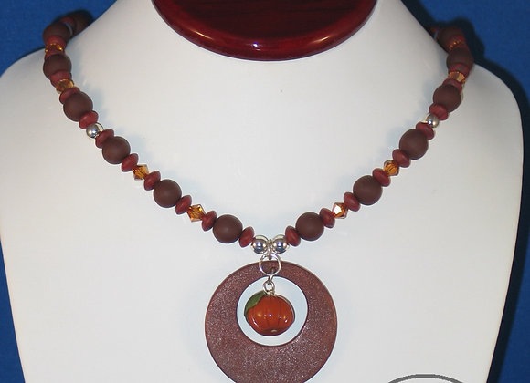 Pumpkin Pendant Necklace, Item JN-PuPe-001