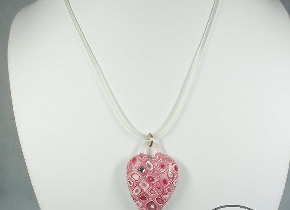 Retro Heart Pendant Necklace 1, Item JN-ReHt-001