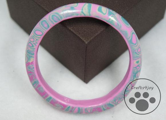 Pink and Blue Pastel Bangle, Item JB-BaBr-002