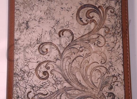 """""""Fancy Swirls"""" embellished journal cover"""