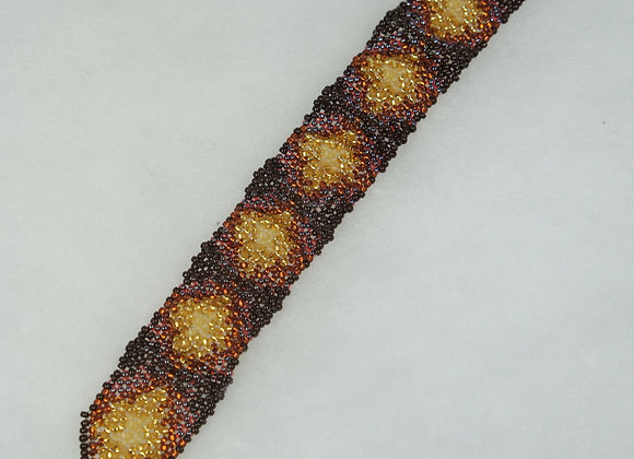 Autumn Elegance Beaded Bracelet, Item JB-BrGd-001