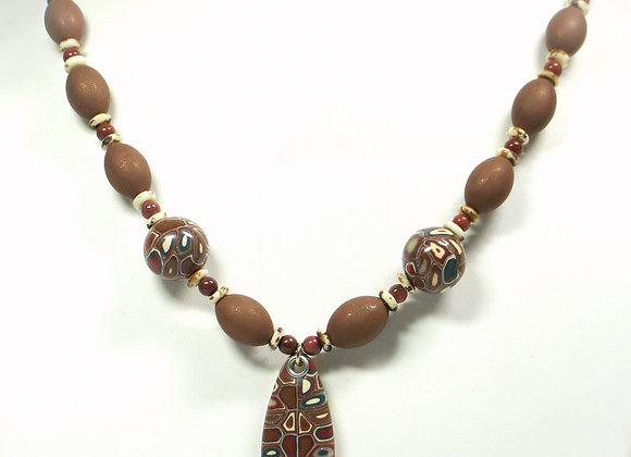 Earthy Shades Necklace, Item JN-SbEs-001