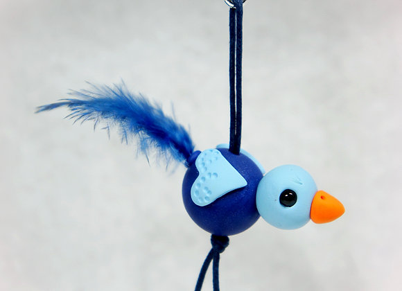 Whimsical Purse charm- Dark Blue, Item CC-BiPC-001