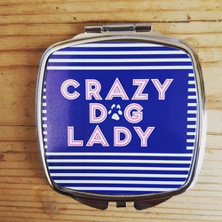 A must have for every crazy dog lady handbag! The Crazy Dog Lady compact mirror! #crazydoglady #laur