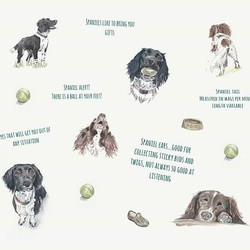 My entry for the dogs and cats challenge for #printmepretty  titled 'I love spaniels' #spanielart #l