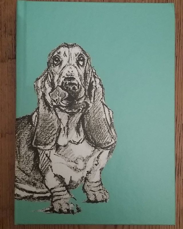 Another awesome product featuring my Basset print from Red Bubble, hardback notepad..