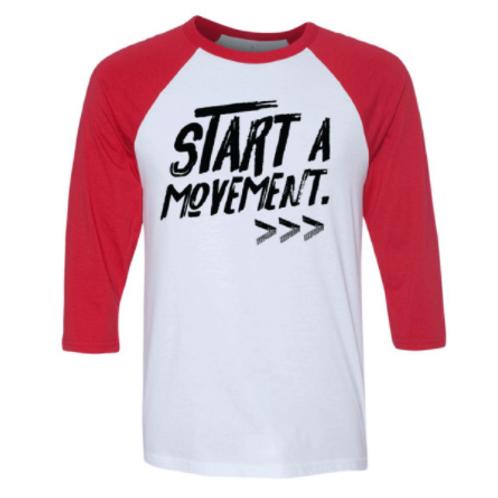 START A MOVEMENT RAGLAN