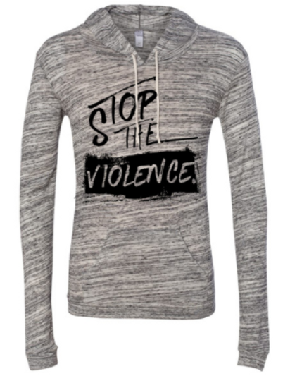 STOP THE VIOLENCE WOMEN'S HOODED PULLOVER