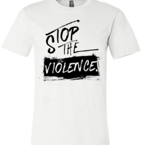 STOP THE VIOLENCE WHITE TEE