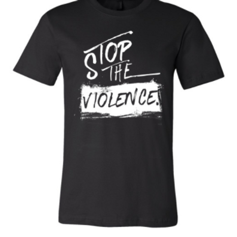 STOP THE VIOLENCE BLACK TEE