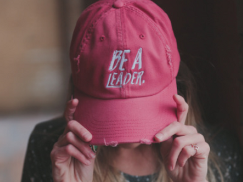 BE A LEADER DISTRESSED CAP
