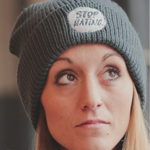 STOP HATING CHUNKY RIB KNIT BEANIE