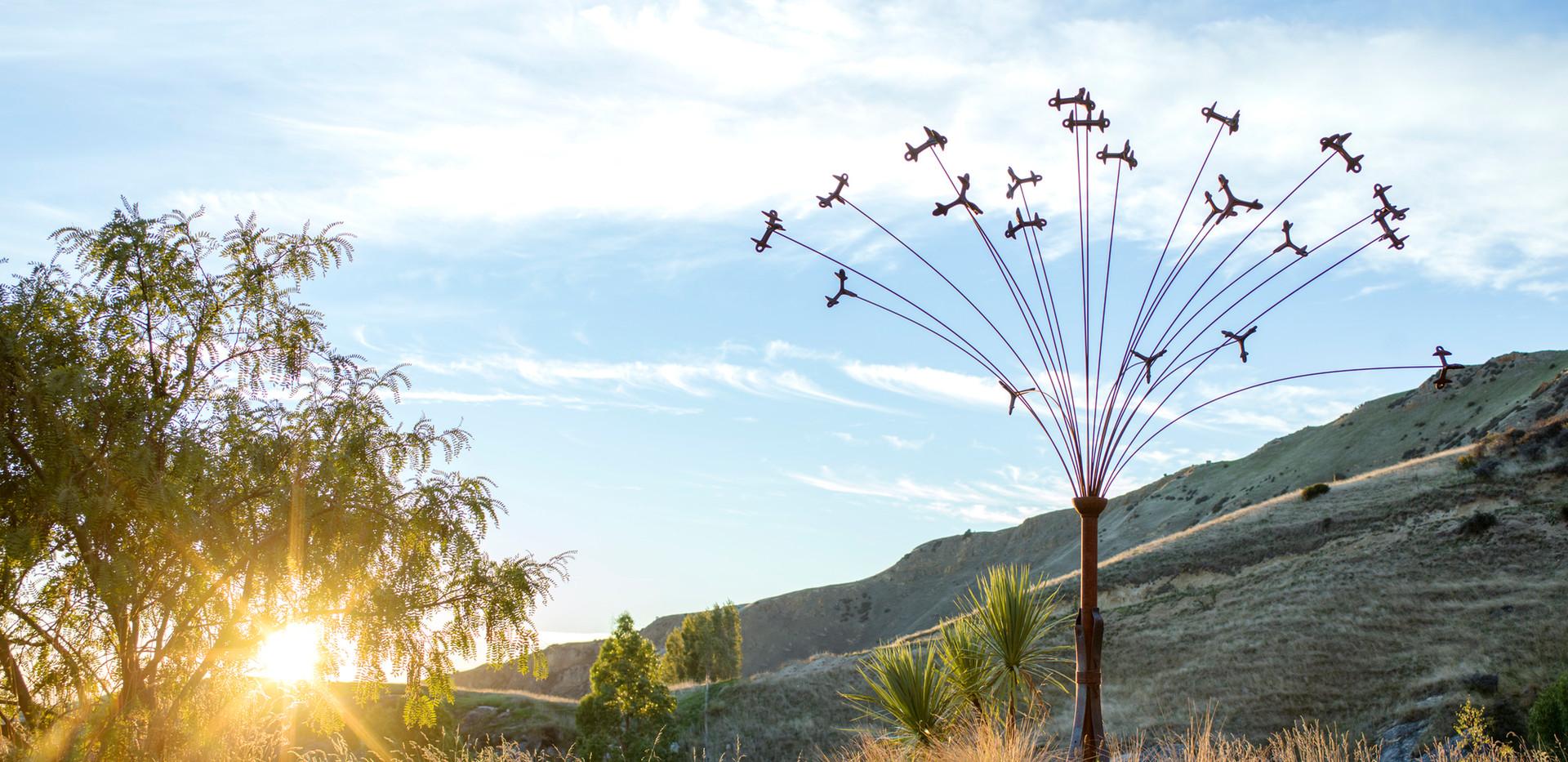 Dandelions flying. Raymond Herber.jpg