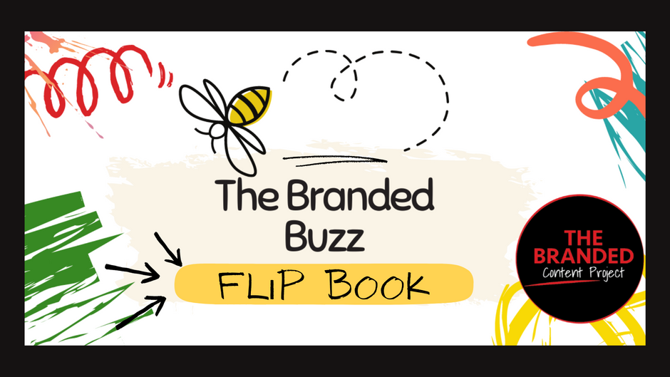Flipping awesome sales advice in the Branded Buzz Flip Book