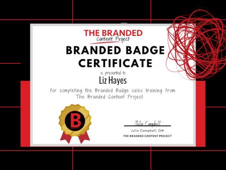 Get your #brandedbadge!
