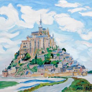"""MG 8163  Mont St. Michel 11, Normandy  oil/board   12""""w x 16""""h  unframed $1200"""