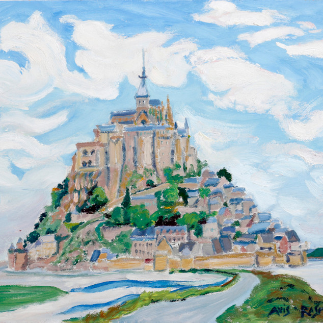 "MG 8163  Mont St. Michel 11, Normandy  oil/board   12""w x 16""h  unframed $1200"