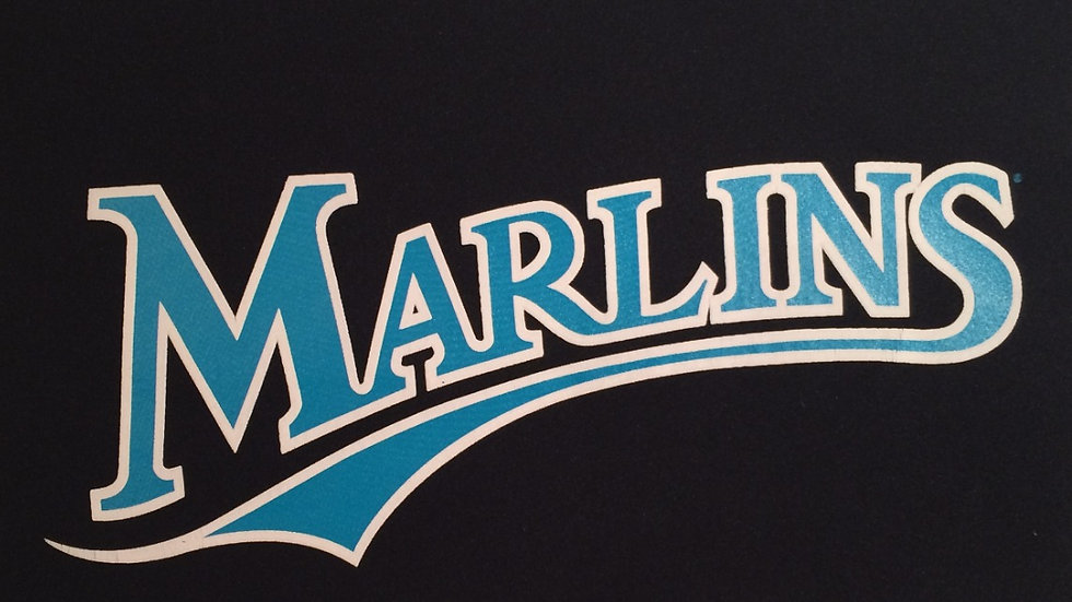 Vintage Classic Miami Marlins Logo Door Shirt