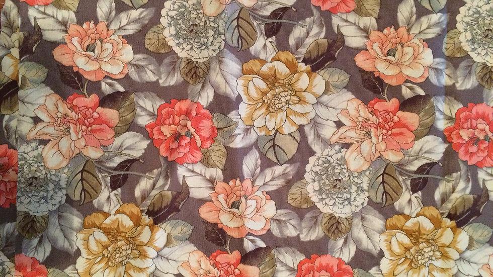 Warm tones Floral Fabric