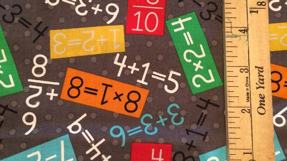 """MATH"" fabric, great base for a teacher or ??"