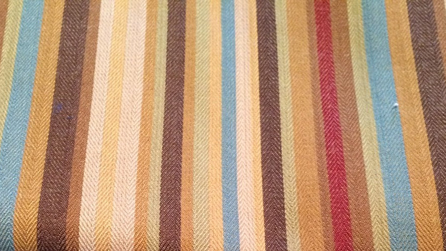 Multicolored Stripe Blue Brown Wine Tan Fabric