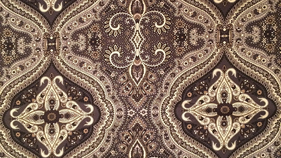 Gray and brown cotton Waverly fabric