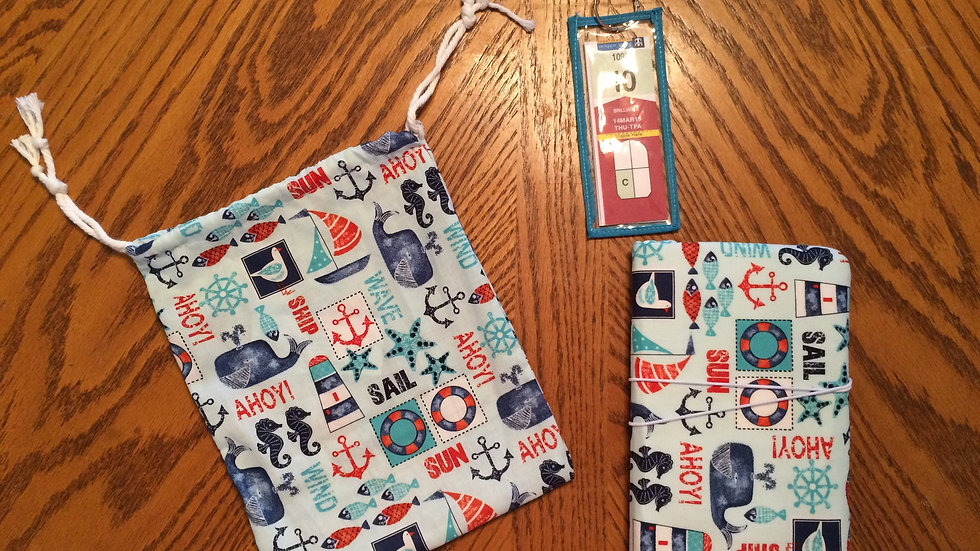Cruise Travel Set - Passport Wallet, Bag, and 5 Luggage Tags