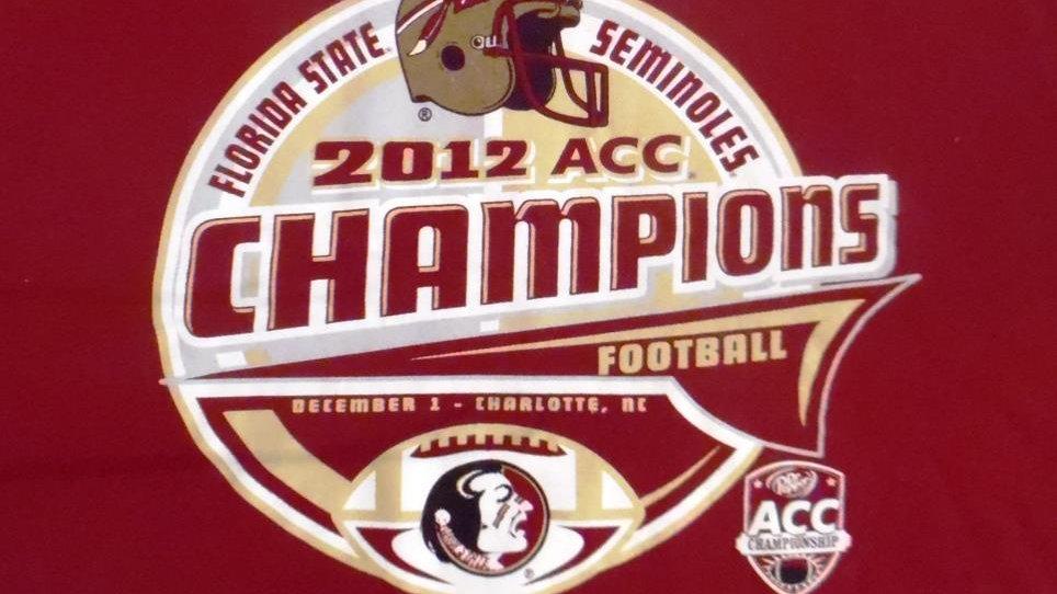 FSU Florida State University 2012 ACC Champions