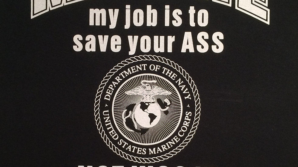 USMC Marine Corps Black and White Sentiment