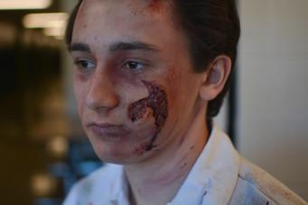Mauled Prosthetic makeup