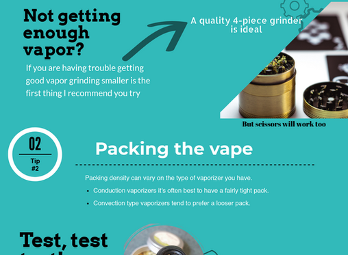 Infographic:  Tips for herbal vaping