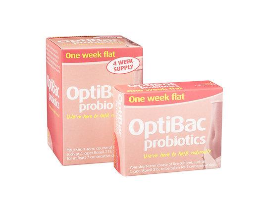 Optibac One week flat, 10 satchets