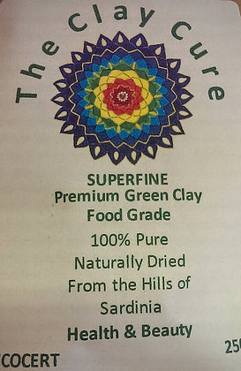 Superfine Premium Green Clay, food grade