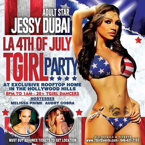 Jessy Dubai July 4th 2021 TGirl Party LA