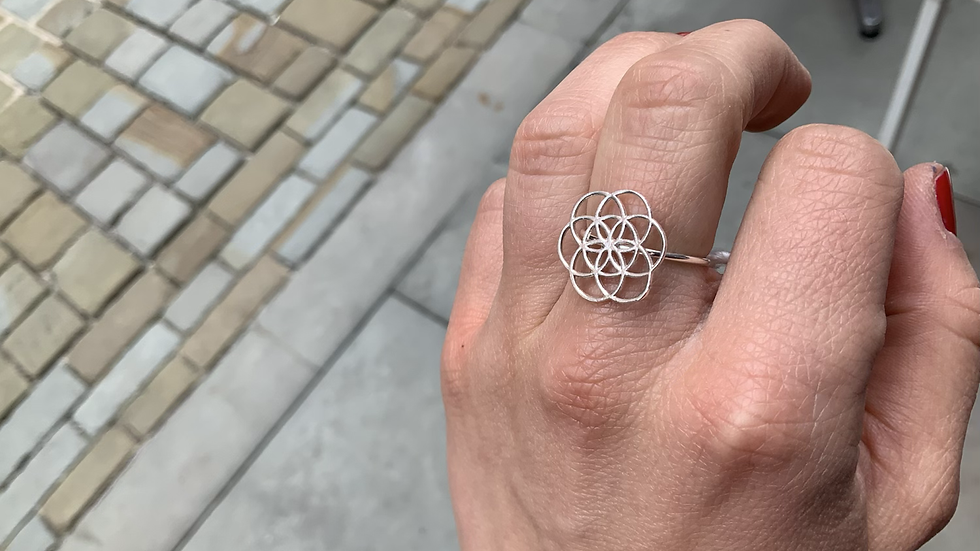 Flower of Life Ring (Sterling Silver)