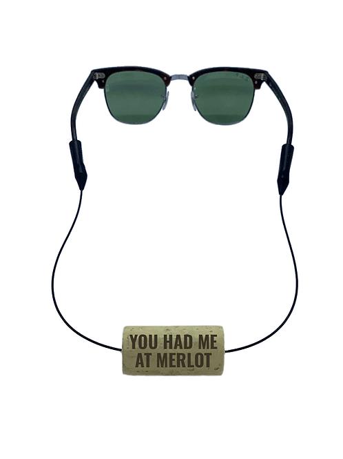 YOU HAD ME AT MERLOT Floating Eyewear Retainer | Set of 2