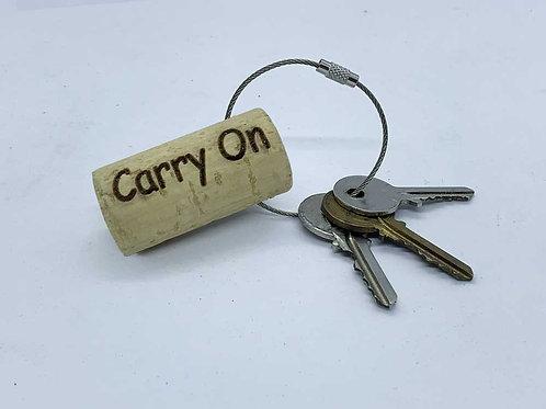 carry on wine cork keyring