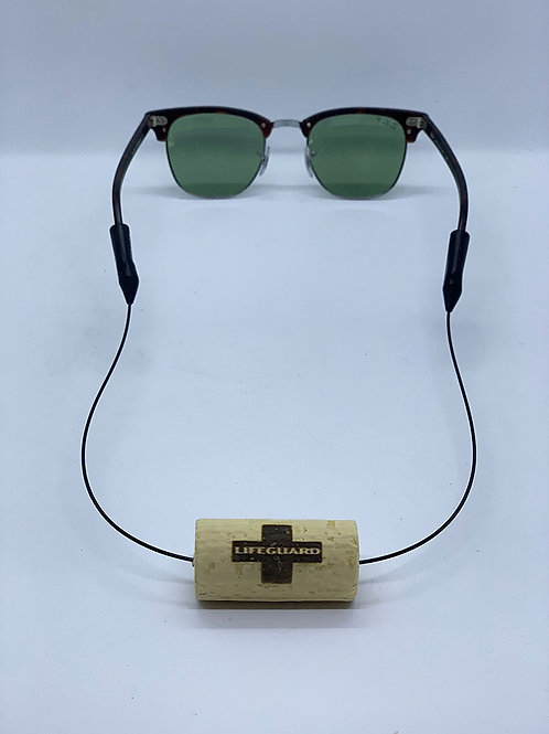 lifeguard logo wine cork eyewear retainer