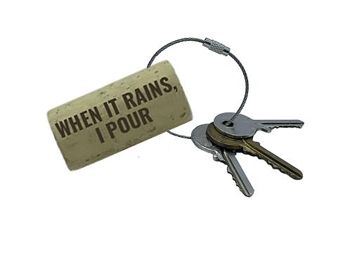 WHEN IT RAINS, I POUR Keyring | Set of 2