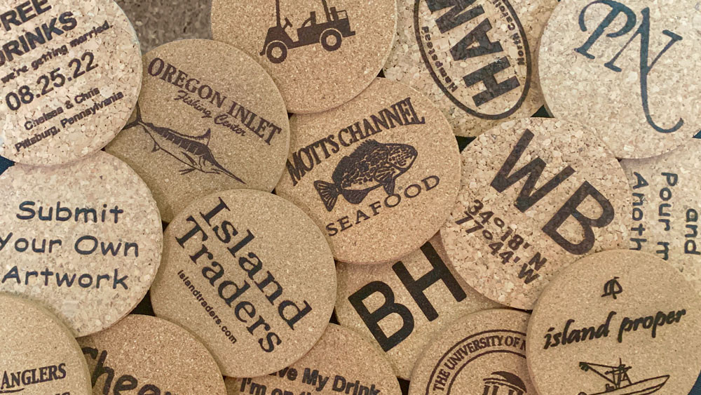 KOASTERZ Custome Engraved Cork Coasters