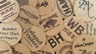 KOASTERZ Custome Engraved Cork Coasters