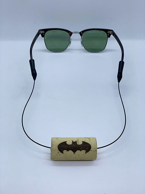 floating eyewear retainer batman logo wine cork