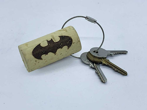 batman wine cork keyring