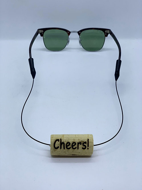 cheers laser engraved sunglasses retainer