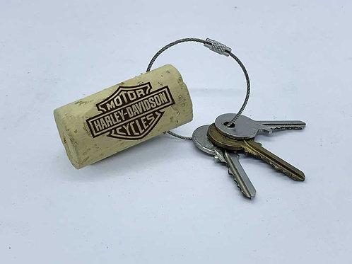 harley-davidson swag wine cork keyring