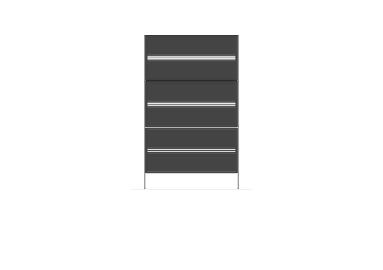 Kommode mit Schubalden   700 x 1170mm