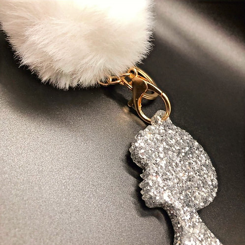Afro Queen Keychain by Dripology Accessories