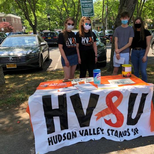HVSU Table at BLM rally in Rhinebeck