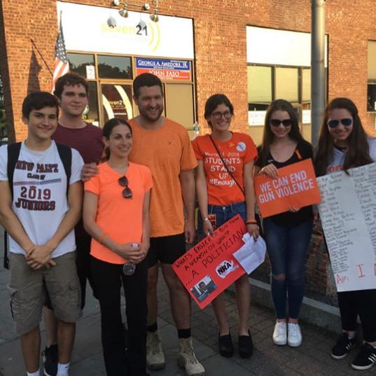 HVSU members marching with Pat Ryan for gun violence awareness